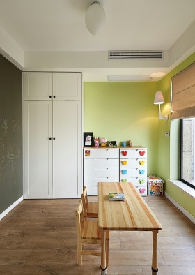 绿色清新宜家风儿童房装饰设计图片