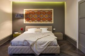 灰色东南亚卧室装潢案例