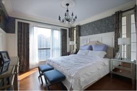 灰色欧式风格卧室吊顶美图欣赏