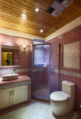 紫色前卫美式风格卫生间装修设计