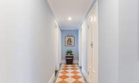 蓝色清新地中海风格过道装修设计赏析