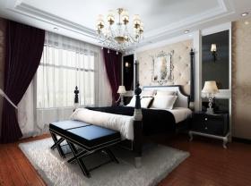 欧式炫酷时尚卧室吊顶装饰案例