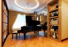 2016大气欧式橙色琴房效果图设计
