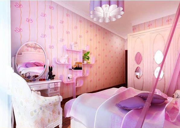 粉色浪漫欧式风格儿童房装潢案例