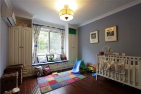 美式风格浪漫紫色儿童房装修效果图