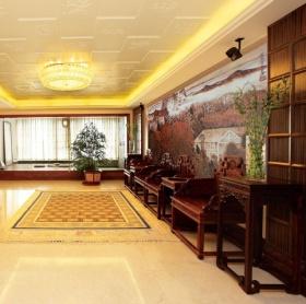 红色中式客厅吊顶赏析