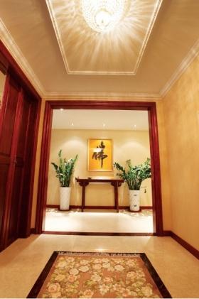 中式风格雅致背景墙布置美图