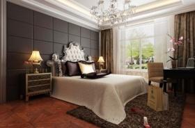 褐色新古典卧室吊顶设计