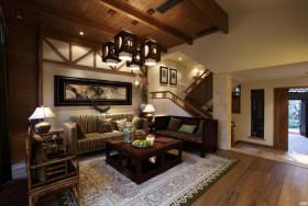 自然欧式风格客厅吊顶设计图片