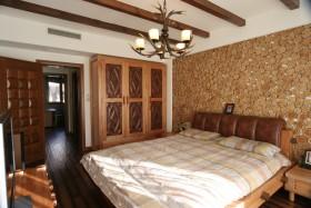 古朴自然创意新古典风格卧室衣柜效果图