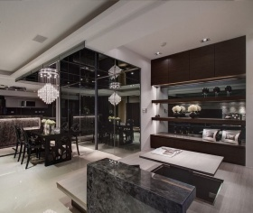 现代风格餐厅榻榻米装修图片