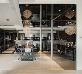 2016黑色简约餐厅吊顶设计