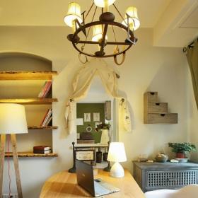 田园风格书房吊顶装修布置