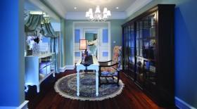 蓝色创意新古典书房装潢案例