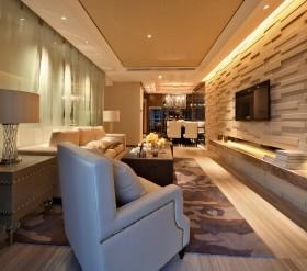 2016现代时尚橙色客厅效果图欣赏