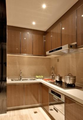 橙色简约厨房橱柜装潢案例