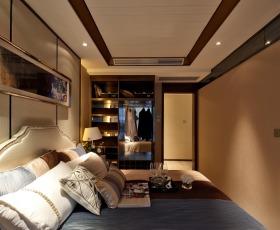 线条感时尚简欧风格卧室衣柜图片