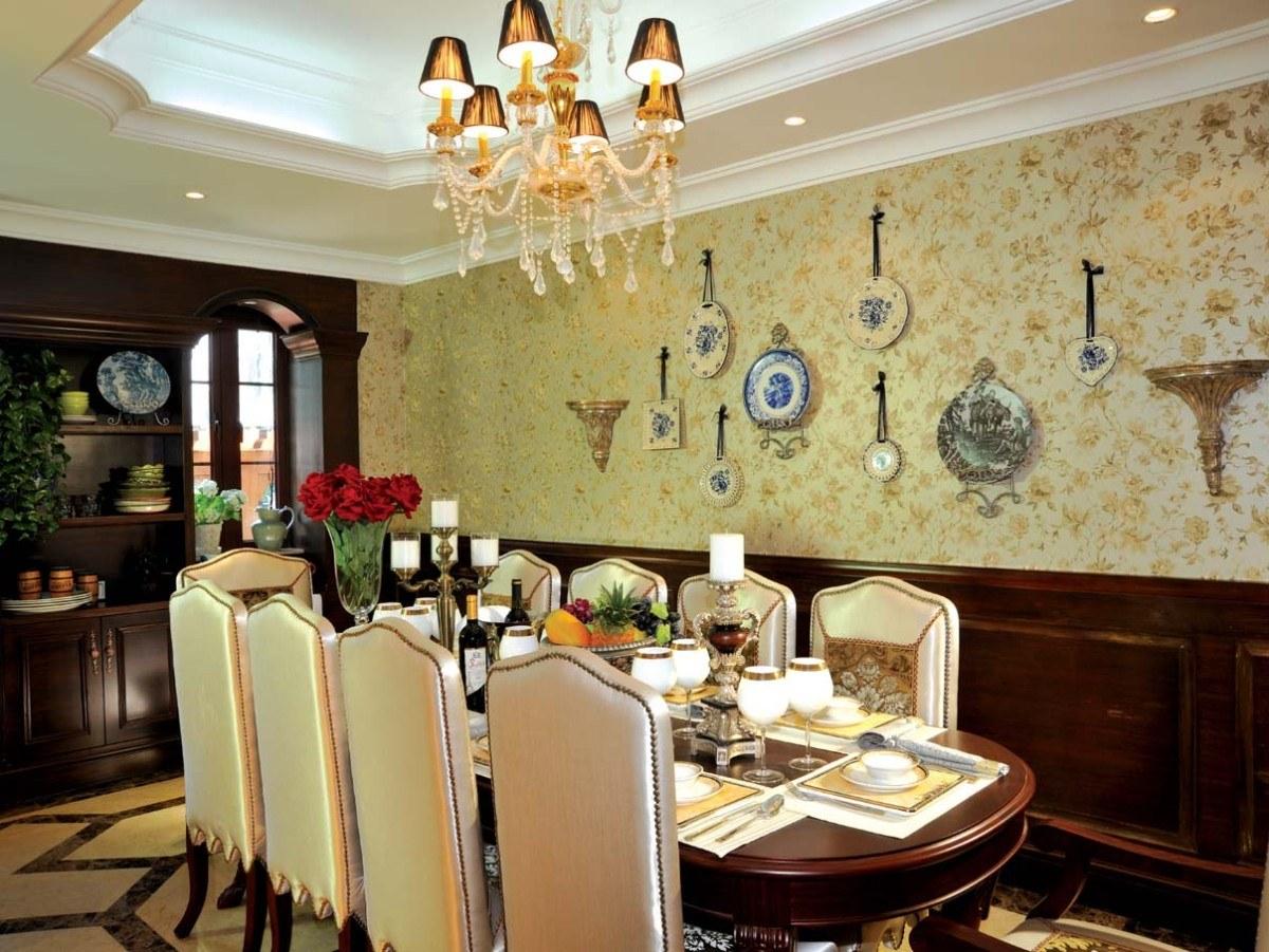 2016华丽欧式风格餐厅吊顶效果图设计