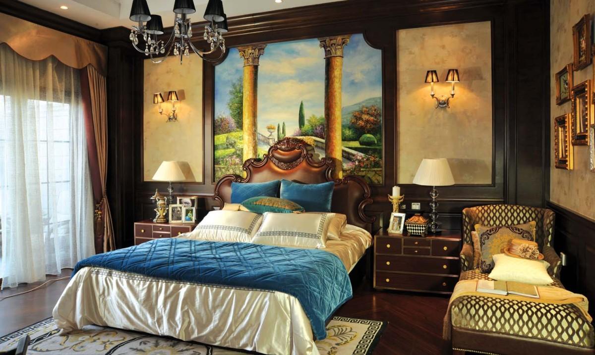 欧式风格卧室吊顶设计欣赏