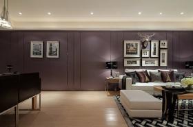 灰色现代风格客厅过道装修图片欣赏