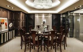 雅致时尚新古典风格餐厅吊顶装修图
