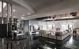 灰色简约风格客厅吊顶设计赏析