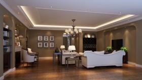 美式客厅吊顶图片