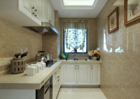 简洁田园风格厨房橱柜图片