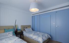 简约风格蓝色卧室衣柜效果图设计