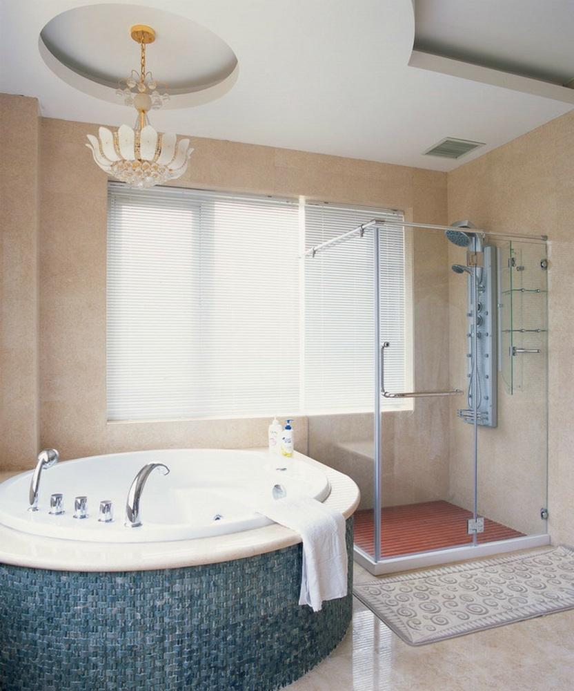 欧式卫生间白色吊顶装修效果图