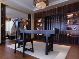 中式雅致书房吊顶装修设计赏析