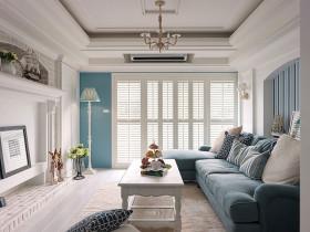 地中海风格蓝色清新客厅吊顶赏析