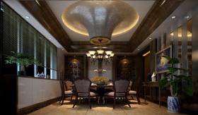 奢华欧式风格餐厅吊顶效果图设计