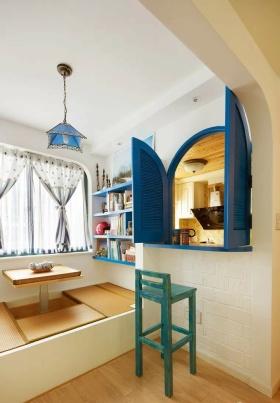 地中海风格蓝色榻榻米效果图设计