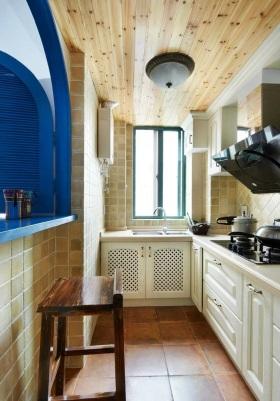 地中海风格蓝色厨房橱柜效果图赏析