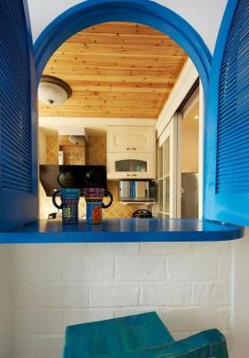 2016地中海风格蓝色拱形创意隔断设计图