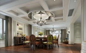 2016新古典餐厅吊顶装修案例