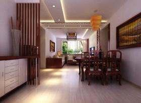 红色中式餐厅吊顶设计图