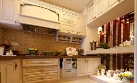 2016欧式橙色厨房橱柜装饰图