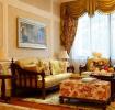 橙色欧式风格客厅吊顶效果图