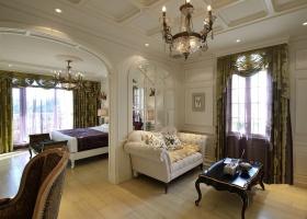 欧式风格华丽公寓式卧室隔断装修图片