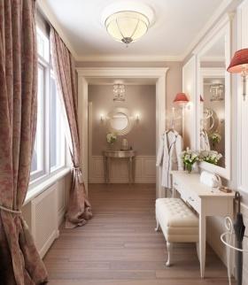 米色欧式风格过道带梳妆台装饰设计图片