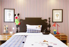 灰色个性现代风格儿童房装饰设计图片