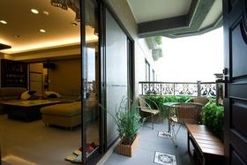 清新欧式风格黄色阳台设计装潢
