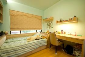 现代风格绿色清新儿童房装饰设计图片