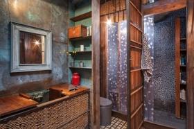 田园风格个性红色卫生间装修效果图设计