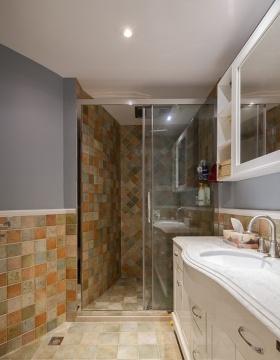 欧式风格清新橙色卫生间装修设计