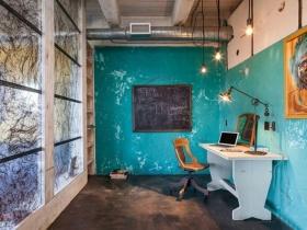 现代时尚工业风书房装修美图
