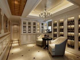 华丽欧式客厅酒柜美图赏析