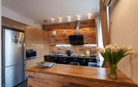 欧式风格橙色厨房2016设计装潢